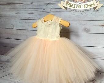 flower girl dress, flower girl dresses, ivory flower girl dress, blush dress, child dress, baby dress, light pink dress, wedding dress