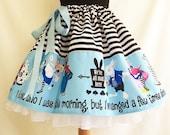 Alice In Wonderland Costume, Skirt, Full Skirt, Cosplay,  By Rooby Lane