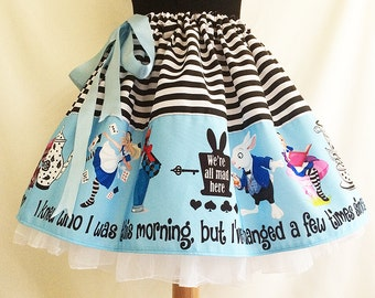 Alice In Wonderland clothing, Costume, Skirt, Full Skirt, Cosplay,  By Rooby Lane