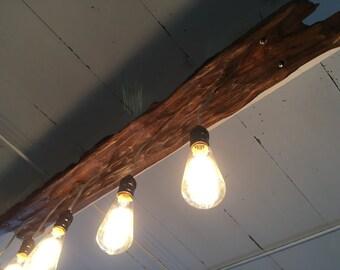 Driftwood Light Fixture, handmade