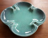 Royal Haeger USA R1601 Vintage/Retro Aqua Blue/Green Clover Shape Ashtray or Catchall