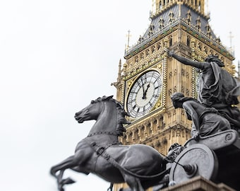 London print, Big Ben, London photography, large photography, fine art photography - London's Warrior Queen