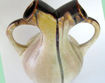 Belgium Wedding Vase Matte Glaze Studio Pottery Faiencerie Thulin Art Nouveau