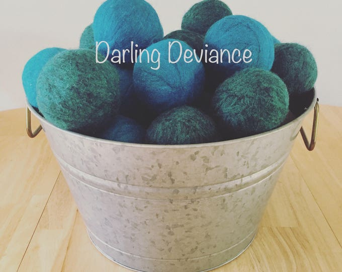 Featured listing image: Felted Wool Dryer Balls - Set of 3