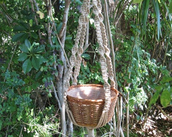 Jute 37 Inch No Beads Macrame Plant Hanger