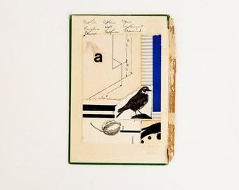 Orginal paper collage, vintage paper collage, vintage book collage