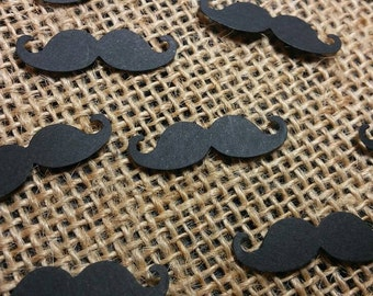 Mustache Confetti 150 CT- Litte Man- Gender Reveal- Table Confetti- Birthday- Baby Shower- Custom Colors Available