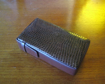 Vintage Snake Skin Cigarette Case