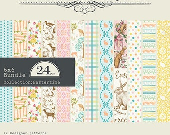 "Authentique Paper ""Eastertime"" Collection 6x6 Pad"