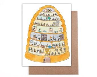 Beehive card 4x5