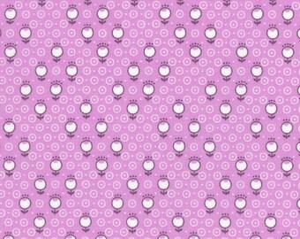 Lecien Retro 30's Child's Purple Dots Cotton Quilt Fabric by 1/2 yd. #31441-110