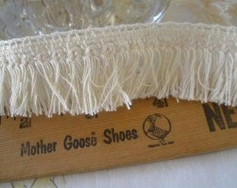 Natural color Cotton Fringe tassel trim retro 28MM wide basic brush fringe BTY yards sewing crafts costume home decor boho hippie