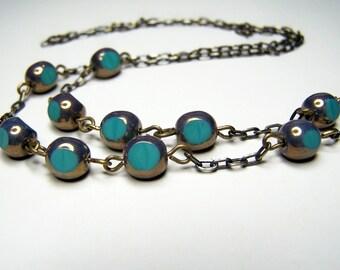 Turquoise Color, Eyeglasses Holder, Beaded Eyeglass Chain, Eyeglasses Necklace by Eyewearglamour