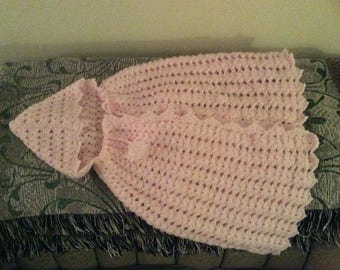 Pink Snowflake Hooded Cape