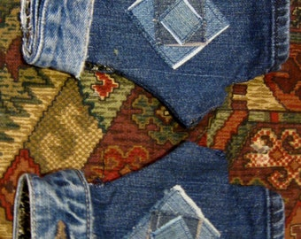 Denim Fingerless Gloves/Gauntlets