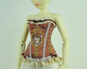 The Golden Tiger BJD Art Line Corset for Fairyland Minifee MSD BJD