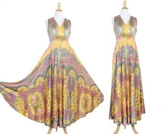 Vintage 1970s Boho Maxi Dress