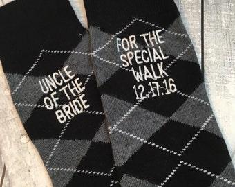 Groom Socks - Uncle of the Bride Socks - Groom Gift - Special Socks - Black - Wedding Socks - Groomsmen Gift - Uncle Wedding gift