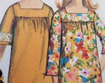 MUU MUU Pattern • Simplicity 6792 • Miss S 10-12 • Square Neck Dress • Bell Sleeves • Sewing Patterns • Vintage Patterns • WhiletheCatNaps
