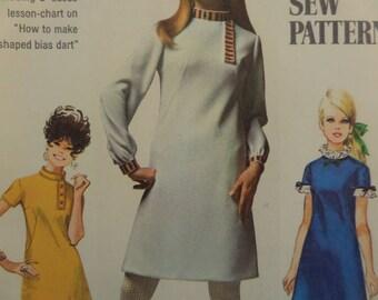 GO GO DRESS Pattern • Simplicity 7737 • Miss 16 • 60s Dart Fit Dress • A-Line Dress • Sewing Patterns • Vintage Patterns • WhiletheCatNaps