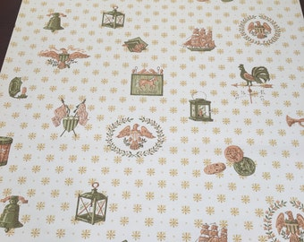 Vintage Mid-Century Military Roll of Wallpaper