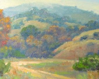 Contemporary Plein Air Oil Painting of the Malibu Creek State Park, California