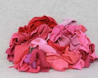 Recycled Cashmere Remnants - Hot Pink 16oz
