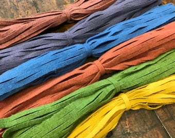 Primitive Rainbow - 150 #8 Sized Primitive Hand Cut Wool Strips for Rug Hooking