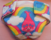 Ready to Ship SIZE #2 cloth Doll Diaper troll trolls adjusts washable fits bitty baby some baby alive all gone American Girl doll & more