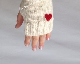 Gloves, Knit Gloves ,Fingerless Gloves ,Heart Gloves ,Arm Warmers ,Mittens ,Winter Accessories Women Gloves // gift for women