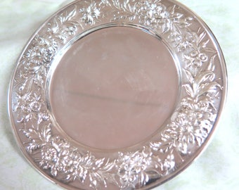 S. Kirk & Son Sterling Silver Plate with Floral Pattern