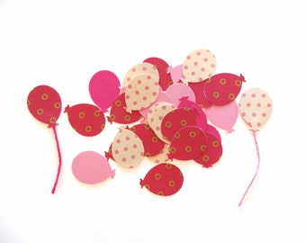 Pink Balloon Confetti, Party Confetti, Princess Birthday Party Confetti, Pink Bridal Shower Decor, Pink Baby Shower Balloons