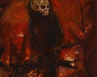 Original Skelecrow Art Print - Harbingers II Series - War