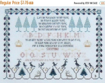 50%OFF Eileen Bennett A CHRISTMAS Sampler Exemplary By The Sampler House - Counted Cross Stitch Pattern Chart