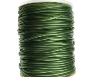 Green Rubber cord 2mm Green Hollow Rubber tubing rubber cord S 40 183