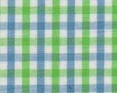 3 yards blue green tattersall