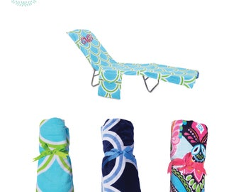 Monogram Terry Beach Towel / Lounge Cover / Pool Towel