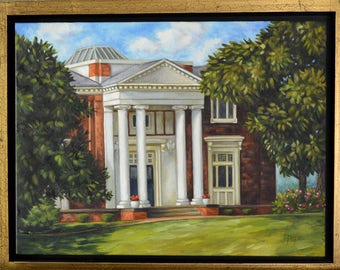 STUDIO SALE // Oil Painting - Carnegie Library, Bean Hall, Historic Judson College, Marion Alabama