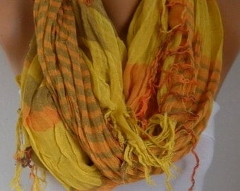 Mustard&Orange Plaid Scarf Soft Winter Accessories Oversize Tartan Scarf Shawl Cowl Scarf Cotton Scarf Gift Ideas For Her Women Fashion