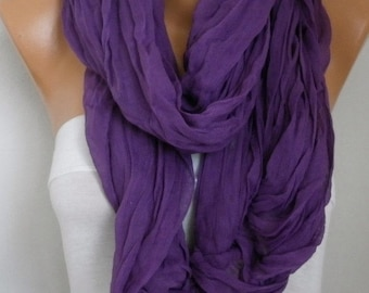 ON SALE --- Purple Cotton Tassel Scarf, Shawl, Fall Scarf,Christmas, Cowl Oversized Wrap Gift Ideas For Her Women Fashion Accessories Mother