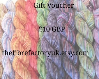 Gift Voucher, Gift Certificate, Birthday, Hand Dyed Yarn, Pin loom, Drop Spindle, fibre Batts,