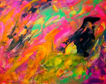 """Contemporary Abstract Painting by Artist Kellianne O'Brien """"Behind the Door"""""""