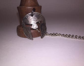 Spartan mask necklace