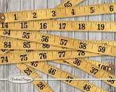 Vintage Tape Measure Printable Measuring Tape retro paper crafting scrapbooking 100 inch digital download instant digital sheet - VDMIVI1534
