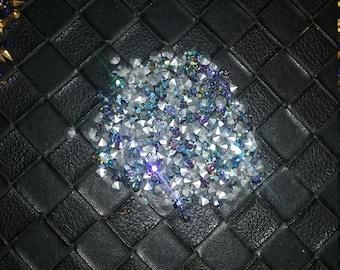 100 Swarovski starlight silver AB rhinestones 4mm