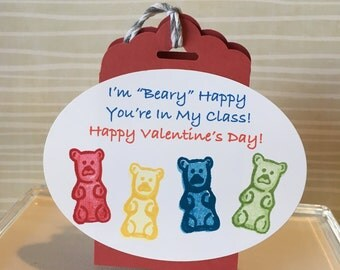24 Valentine Gummy Bear Wraps---candy NOT INCLUDED!