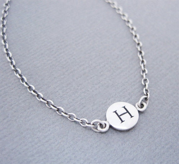 Letter h initial bracelet silver initial bracelet silver h like this item mozeypictures Image collections