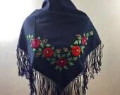 Vintage Scarf, Embroidered Shawl, Vintage Shawl, Ethnic Shawl, Ethnic Embroidery, Embroidered Vintage Shawl, Boho Accessories, Stevie Nicks