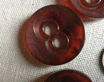 6 large 50s round buttons
