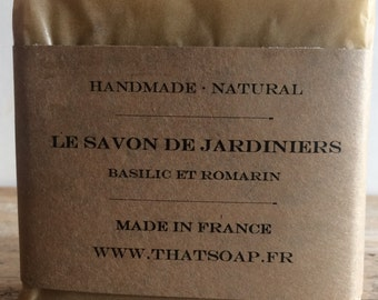 Essential oil soap, vegan soap, Gardeners' Soap That Soap, handmade soap, Exfoliating soap, Basil and Rosemary soap, handcrafted soap